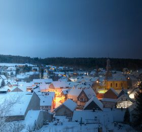 Wolfenhausen im Schnee