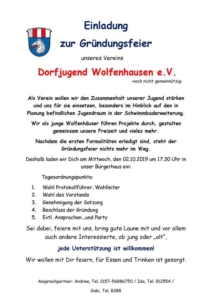 Plakat Gründungsfeier
