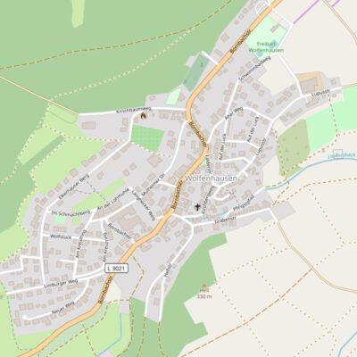 Open Streetmap Karte von Wolfenhausen