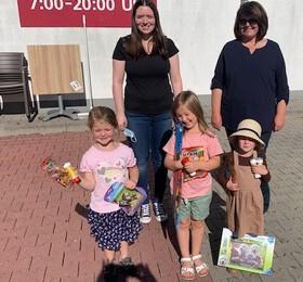 Siegerbild mit Familie Kraus und Siegerinnen